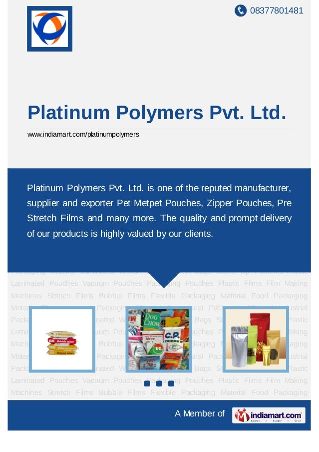 08377801481    Platinum Polymers Pvt. Ltd.    www.indiamart.com/platinumpolymersLaminated   Woven    Bags   Woven    Bags ...