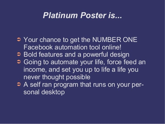 Auto Post To Facebook Groups - Platinum Poster