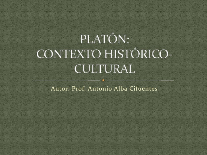 Autor: Prof. Antonio Alba Cifuentes