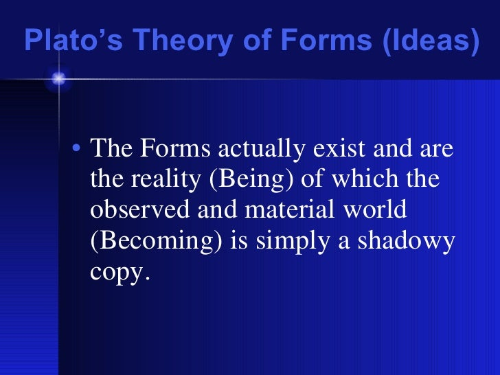 an analysis of metaphysical theory by plato
