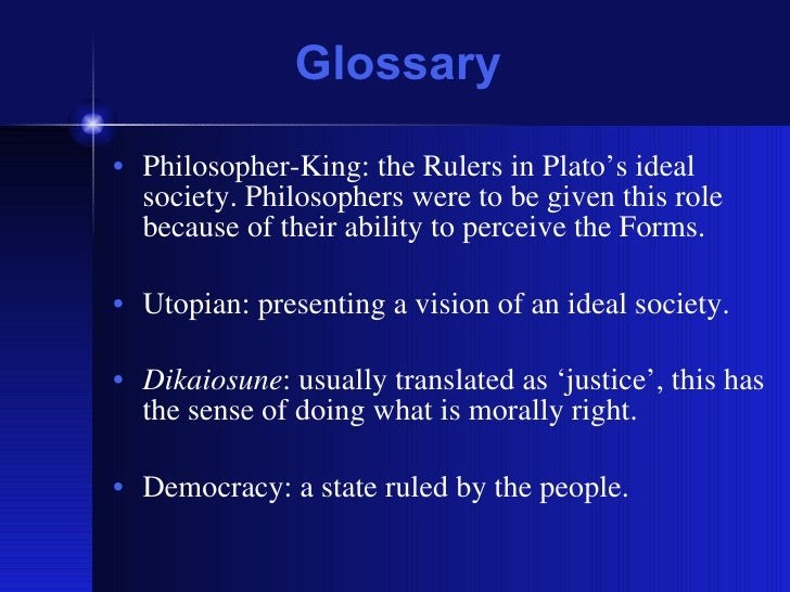 importance of platos theory of ideal state.