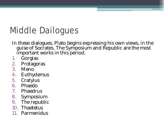 platos euthypro essay Plato on heart in dialogues prev next out of 12  however this essay can only start up the intention  charmides, crito, and euthypro, middle period, gorgias.