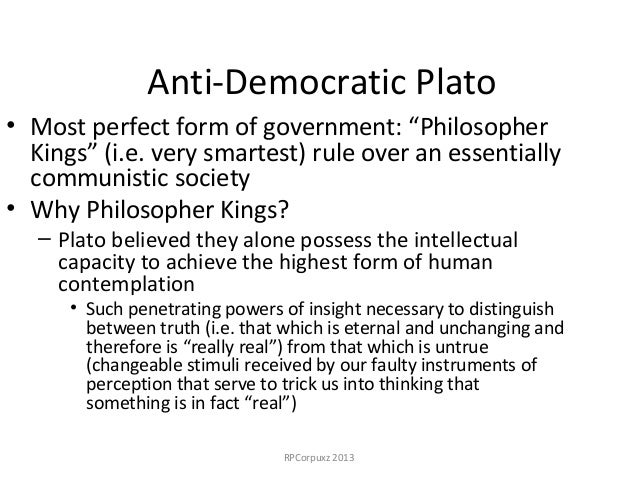 a comparison of the theory of democracy and the concept of philosopher king A summary of book vi in plato's the republic learn exactly what happened is one such philosopher-king—one person with the right nature who is educated in the.