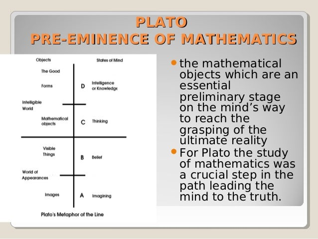 plato divided line Plato's divided line, an example an open letter to dr david roochnik, boston university from robert canright dr roochnik, i very much enjoyed your teaching.