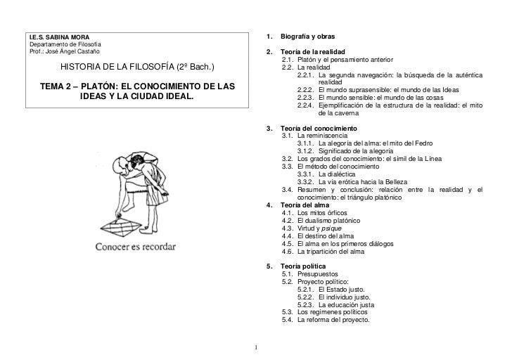 1.   Biografía y obras I.E.S. SABINA MORA Departamento de Filosofía Prof.: José Ángel Castaño                           2....