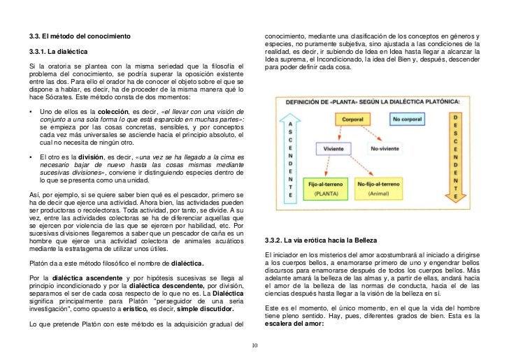 conocimiento, mediante una clasificación de los conceptos en géneros y 3.3. El método del conocimiento                    ...