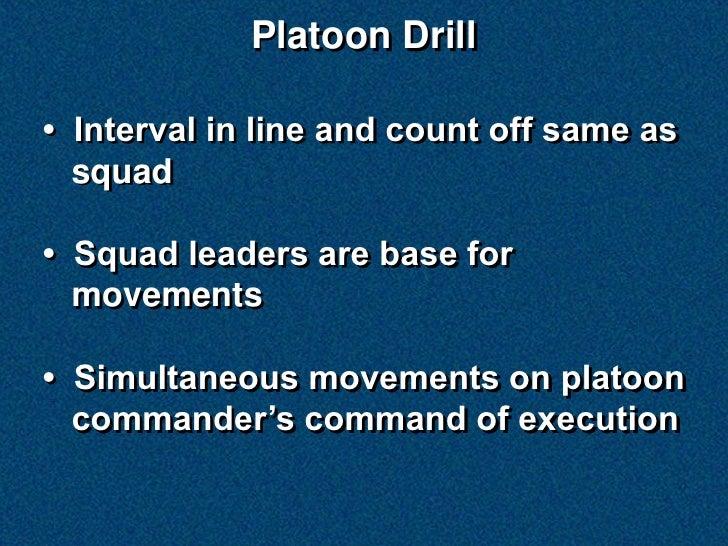 Platoon Drill Slide 2