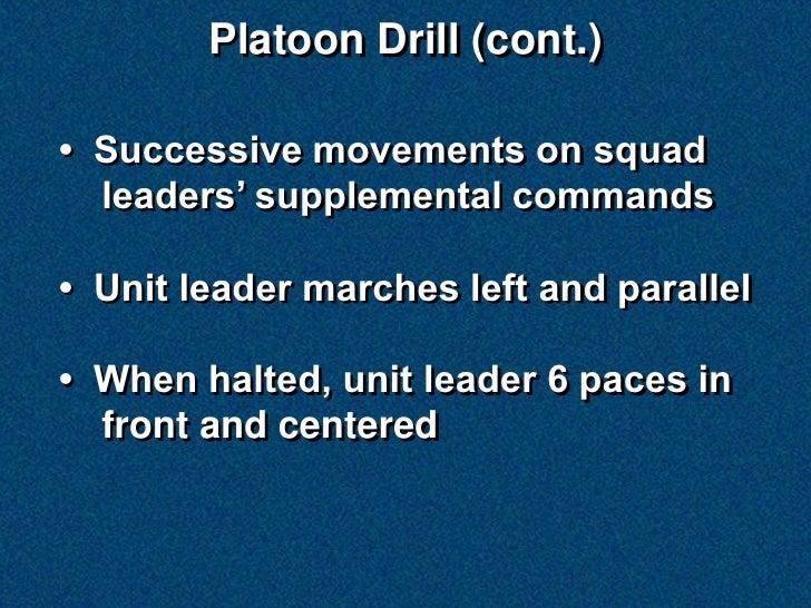 Platoon Drill Slide 3