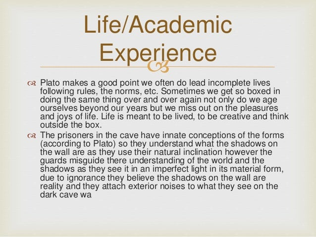 the enlightenment in allegory of the cave by plato Unlike most editing & proofreading services, we edit for everything: grammar, spelling, punctuation, idea flow, sentence structure, & more get started now.