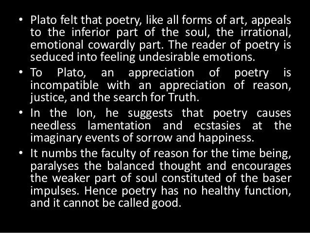Poetry and unreality by plato essay