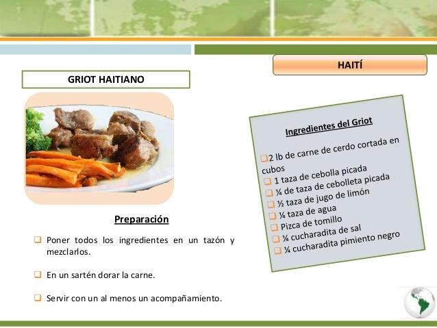 Platos tipicos guyana francesa y hait for Las comidas en frances