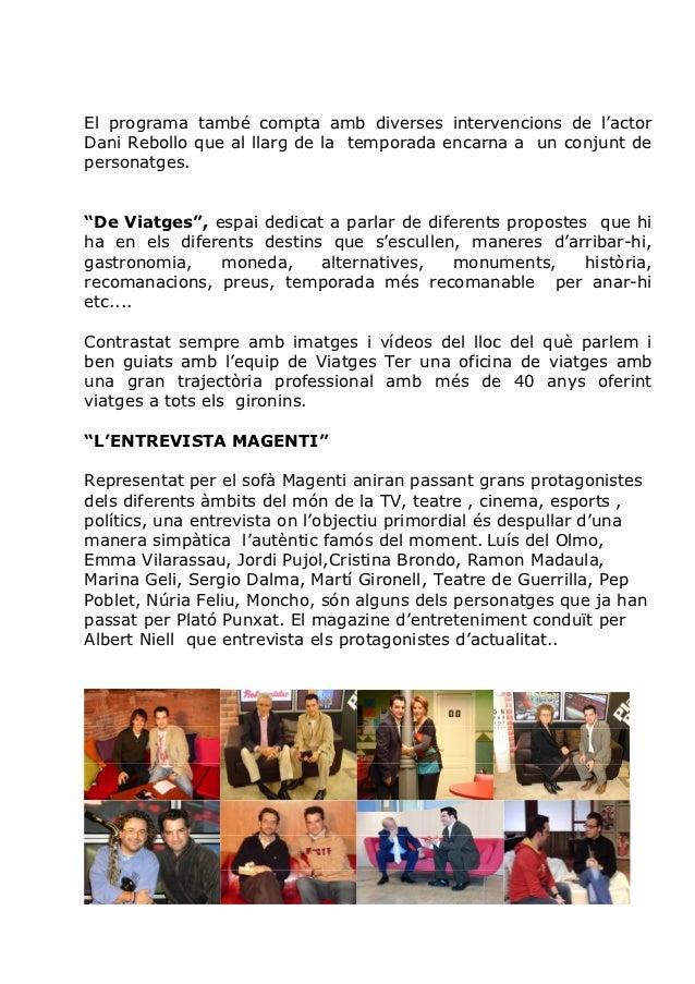 Plató Punxat TV Girona amb Albert Niell Slide 2