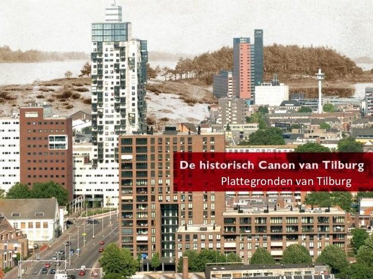 Plattegronden van Tilburg