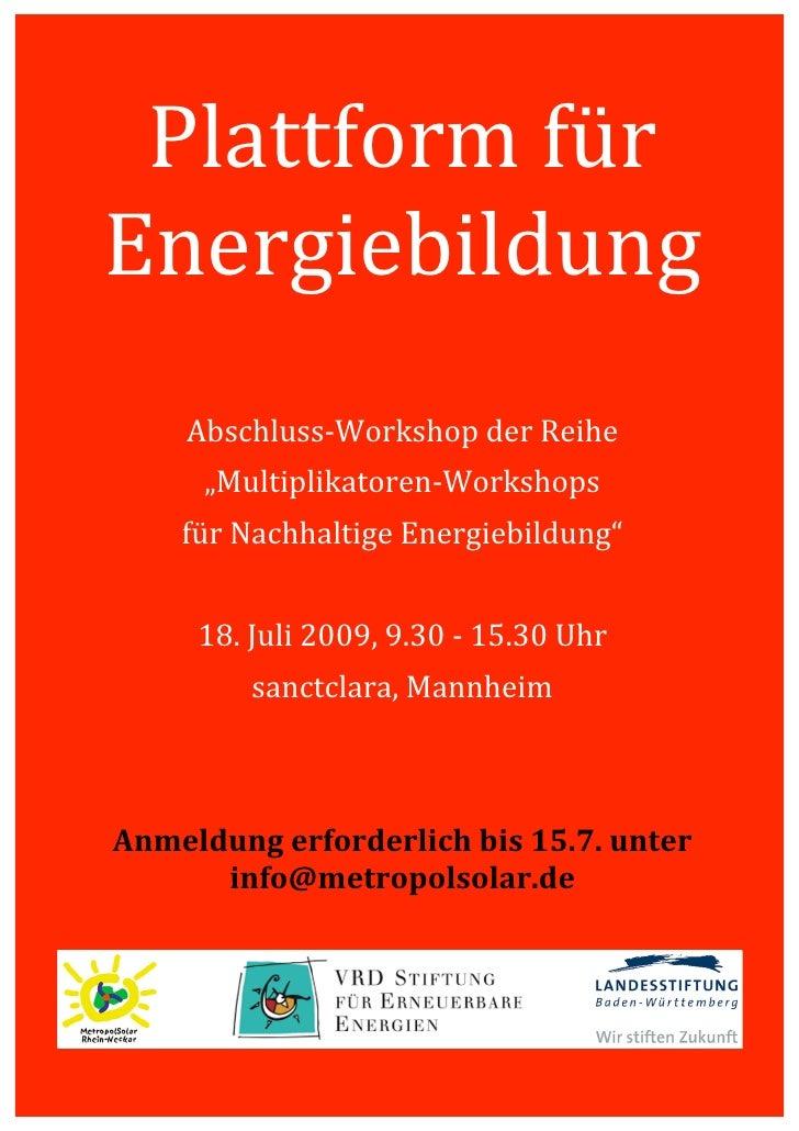 Plattformfür             Energiebildung                                                            ...