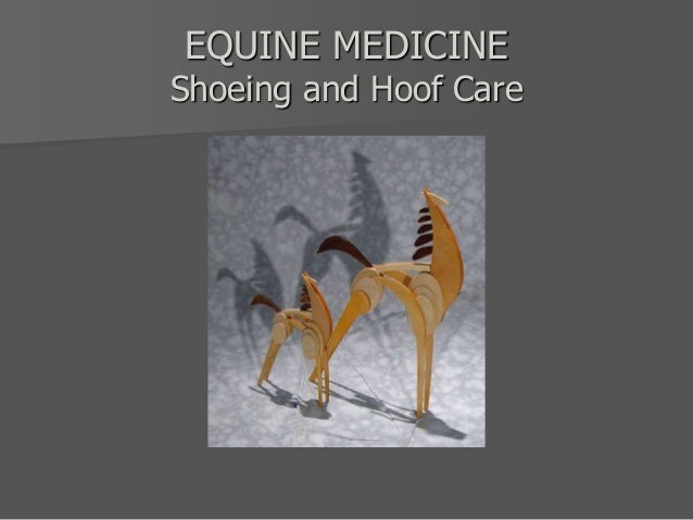 EQUINE MEDICINE Shoeing and Hoof Care