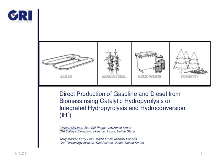 Direct Production of Gasoline and Diesel from             Biomass using Catalytic Hydropyrolysis or             Integrated...