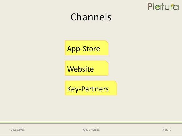 Channels App-Store Website  Key-Partners  09.12.2013  Folie 8 von 13  Platura