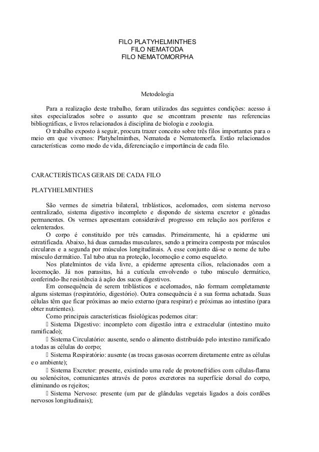 FILO PLATYHELMINTHES                                      FILO NEMATODA                                   FILO NEMATOMORPH...
