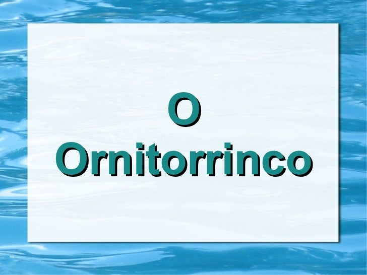 OOrnitorrinco