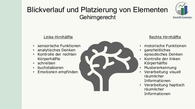 Rechte Hirnhälfte • motorische Funktionen • ganzheitliches episodisches Denken • Kontrolle der linken Körperhälfte • Muste...