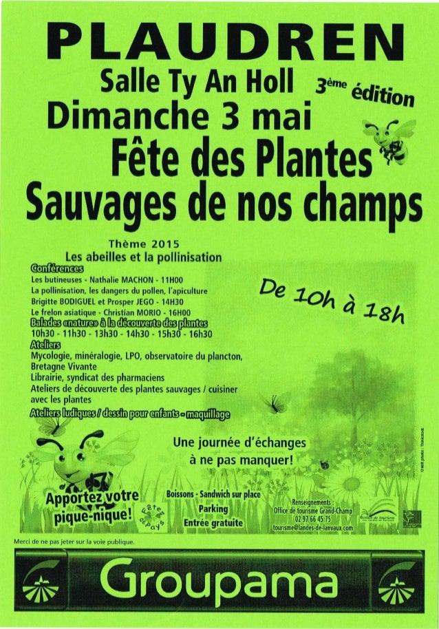 Plaudren fete plantes programme