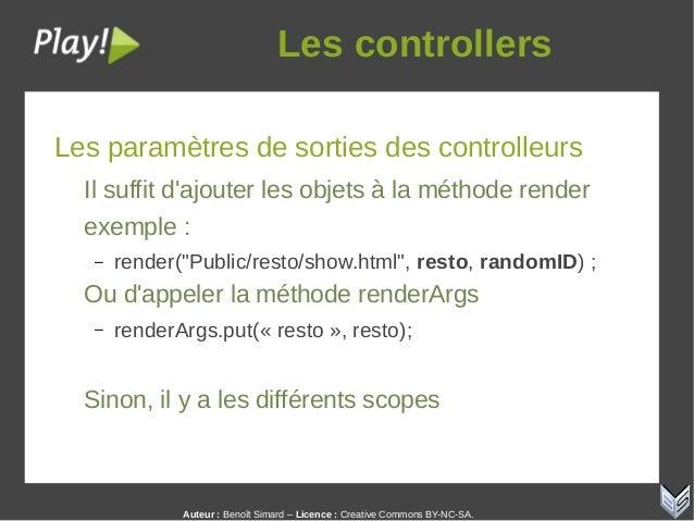 Auteur:Benoît Simard – Licence: Creative Commons BY-NC-SA. Lescontrollers Les paramètres de sorties des controlleurs I...