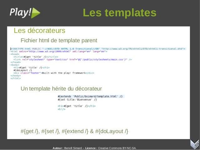 Auteur:Benoît Simard – Licence: Creative Commons BY-NC-SA. Lestemplates Les décorateurs Fichier html de template paren...