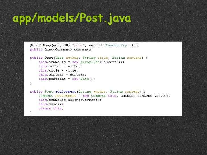 app/models/Post.java