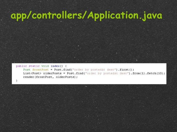 app/controllers/Application.java