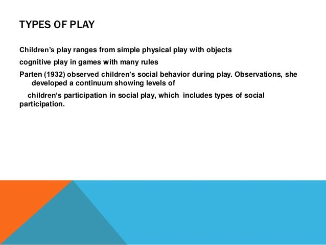 Play and Learning (Developmental Psychology