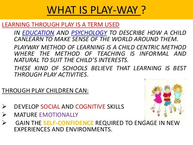 Play way tech for elementary teaching