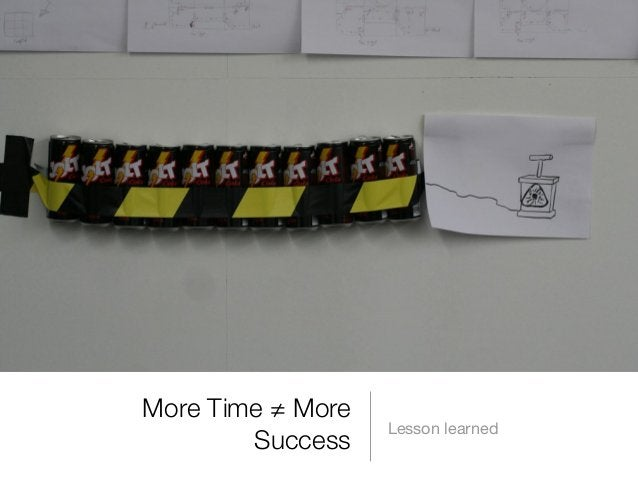 More Time ≠ More Success  Lesson learned