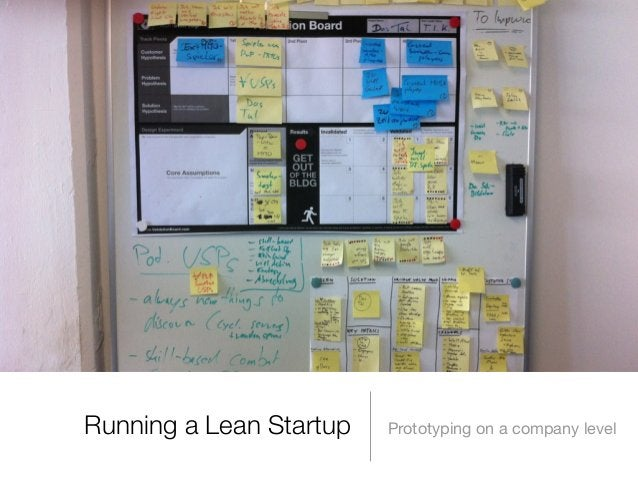 Running a Lean Startup  Prototyping on a company level