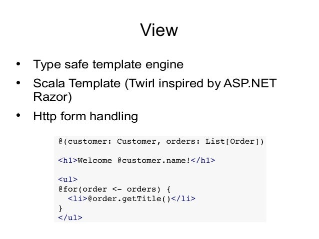 Web application development using play framework with java 10 view type safe template engine pronofoot35fo Choice Image