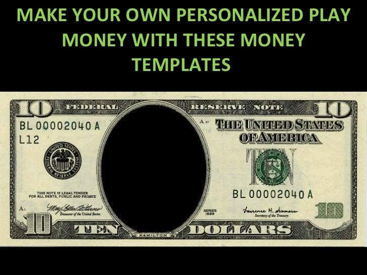 Custom paper money