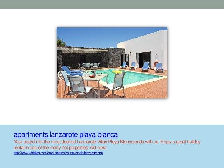 apartments lanzarote playa blancaYour search for the most desired Lanzarote Villas Playa Blanca ends with us. Enjoy a grea...