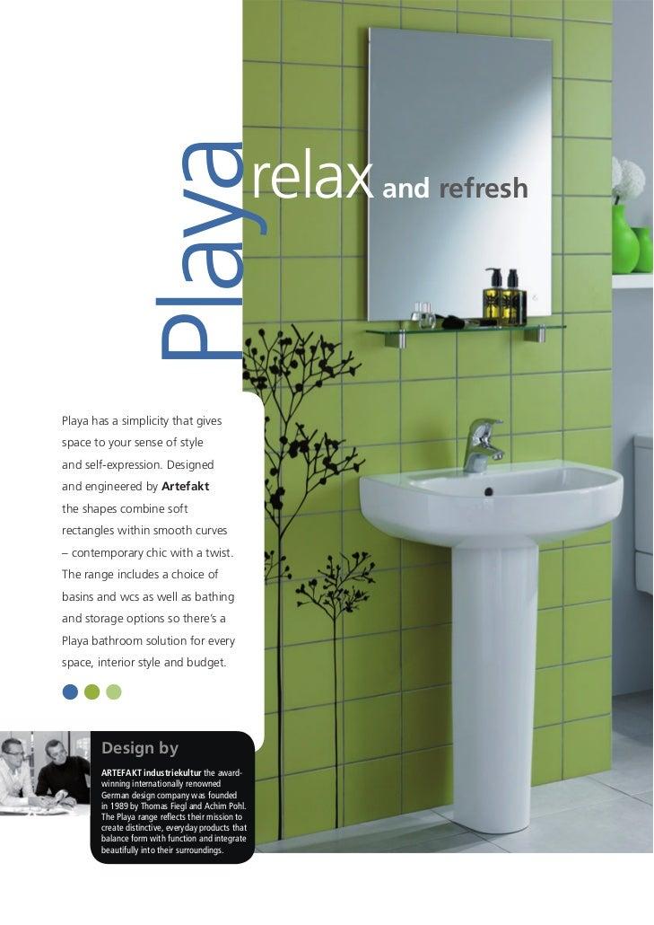 Bathroom Suite Ireland - Playa brochure 2011