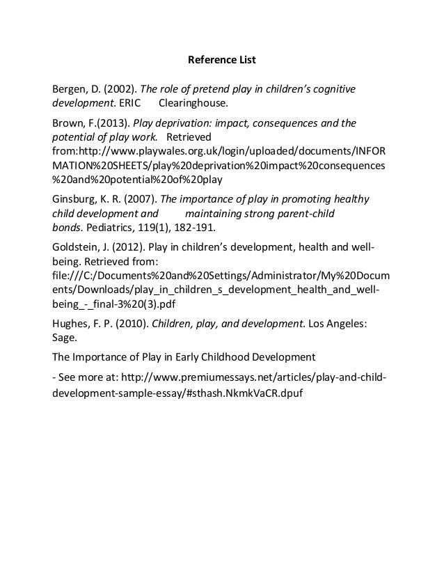 free child development essays