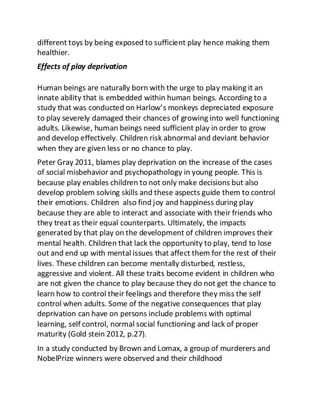 essay on child development observation