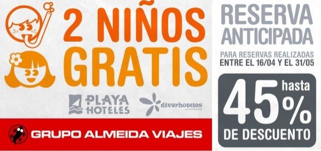 Última hora - Hoteles Playa Senator - 45% Descuento y 2 Niños Gratis …