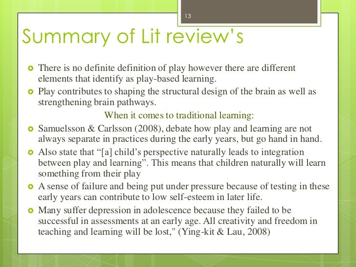 play based learning essay Play makes learning something that happens naturally incredible, exceptional power of play, wherever the setting dianne krizan based on observations and.
