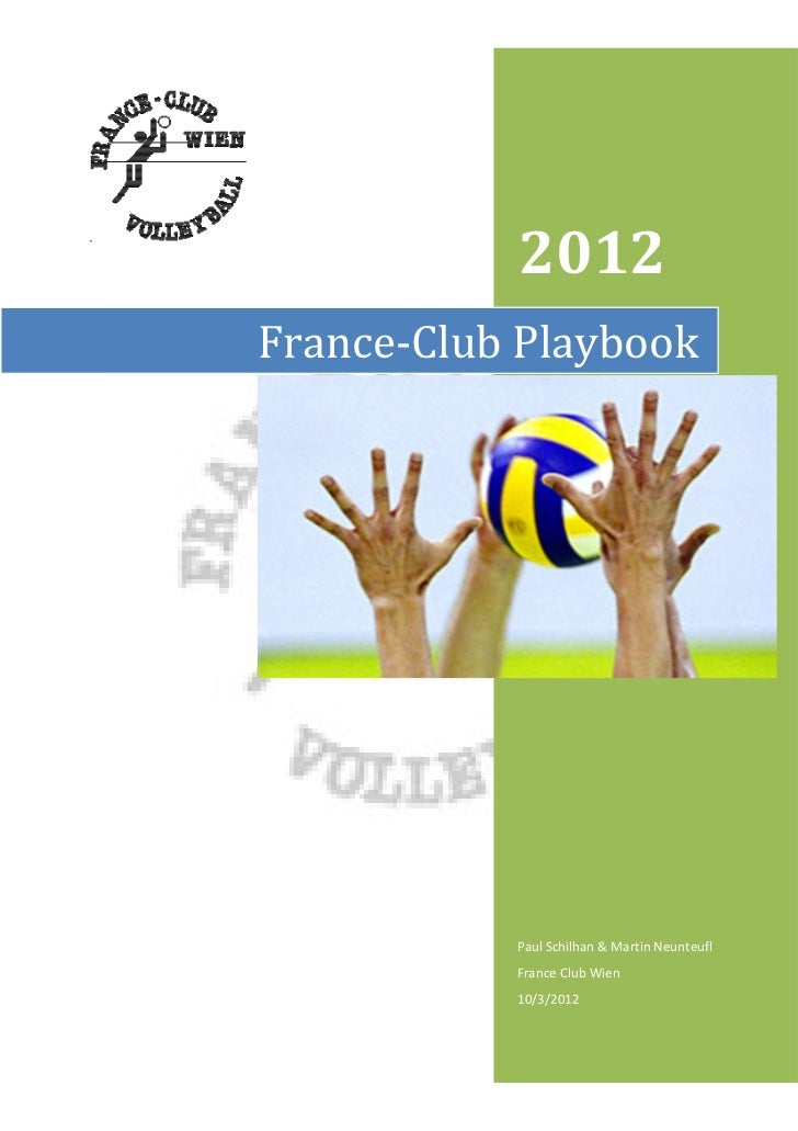 2012France-Club Playbook           Paul Schilhan & Martin Neunteufl           France Club Wien           10/3/2012
