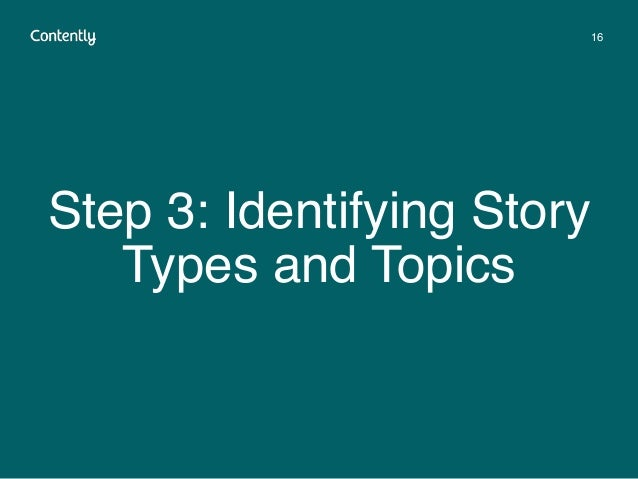 Step 3: Identifying Story Types and Topics 16