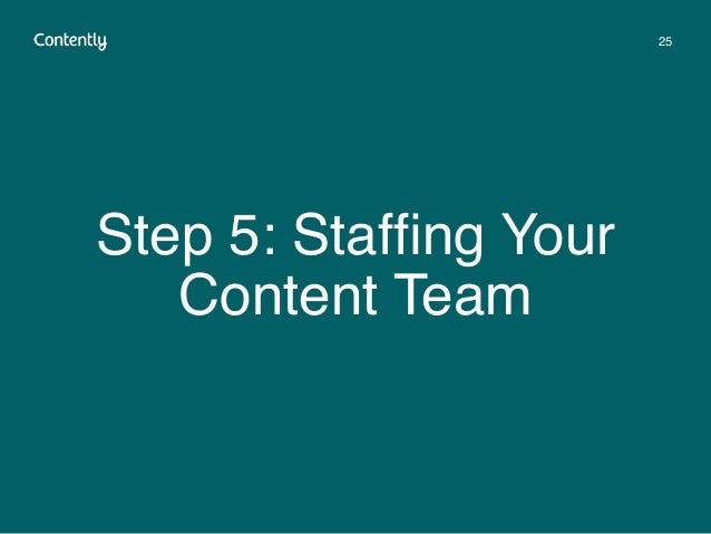 Step 5: Staffing Your Content Team 25
