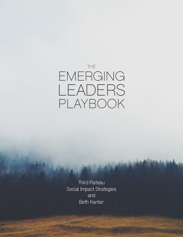 1 Third Plateau Social Impact Strategies and Beth Kanter EMERGING LEADERS PLAYBOOK THE Third Plateau Social Impact Strateg...