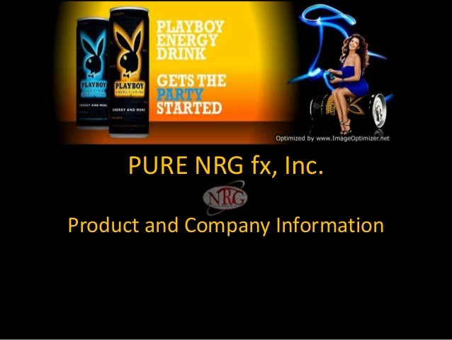 PURE NRG fx, Inc. Product and Company Information