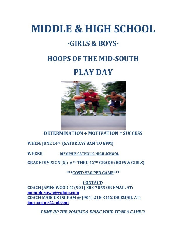 MIDDLE&HIGHSCHOOL  GIRLS&BOYS  HOOPSOFTHEMIDSOUTH  PLAYDAY   DETERMINATION+MOTIVATION=SUCCESS ...