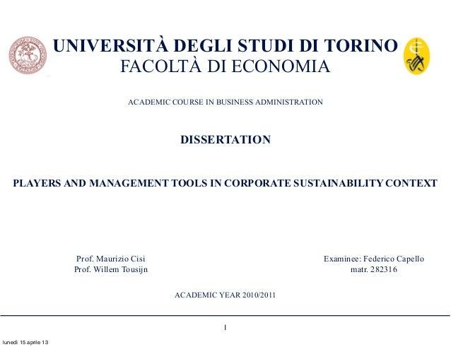 UNIVERSITÀ DEGLI STUDI DI TORINO                            FACOLTÀ DI ECONOMIA                                     ACADEM...
