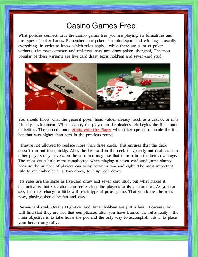 Play Free Cashino Games