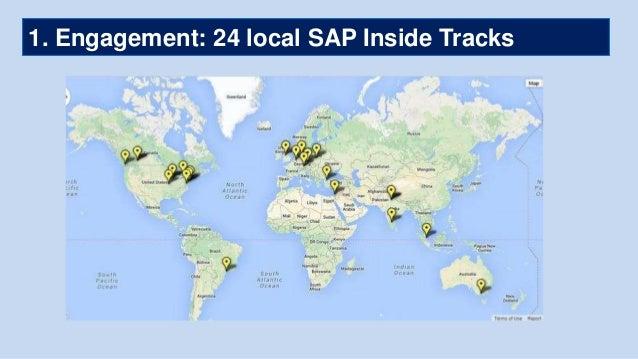 1. Engagement: 24 local SAP Inside Tracks